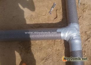 Утепление труб канализации вспененным полиэтиленом