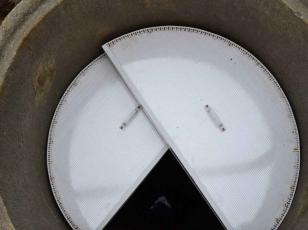Утепленная крышка для колодца из двух половинок