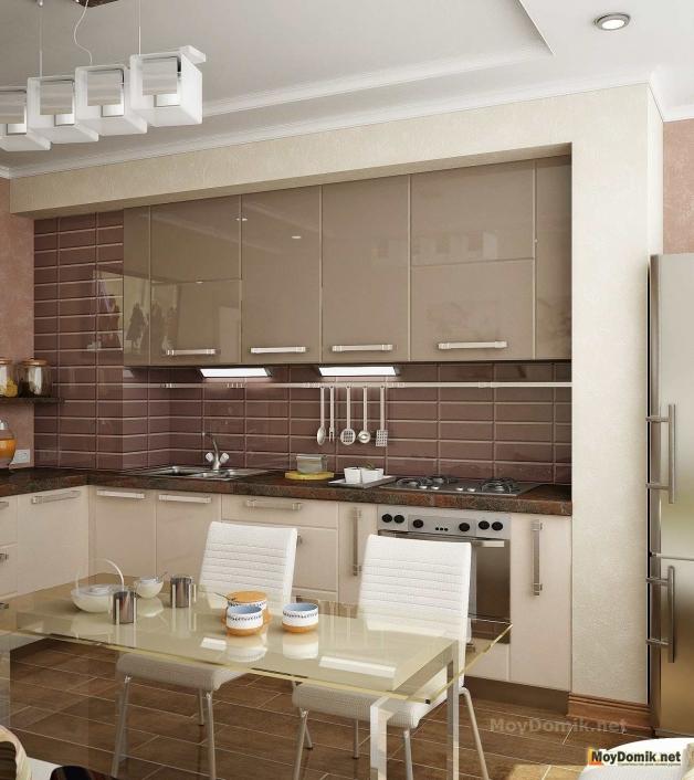 Дизайн кухни в современном стиле - рабочая зона
