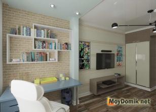 Интерьер детской комнаты в современном стиле - рабочая зона