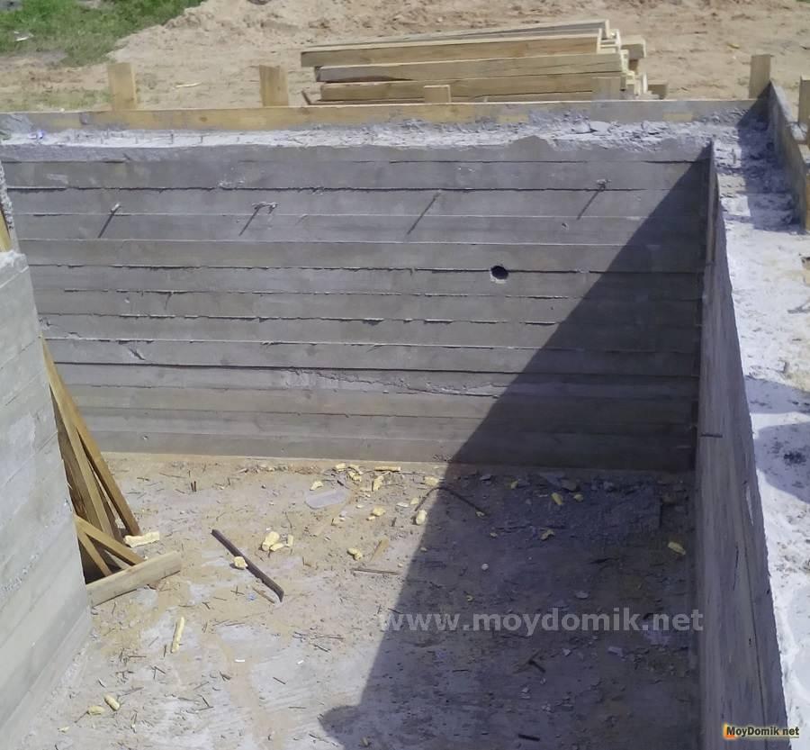 Фундамент под арболитовый дом своими руками видео