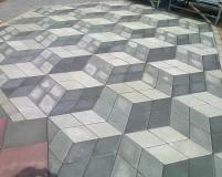 Тротуарная плитка с 3D эффектом