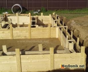 Устройство фундамента под дом из арболита (опалубка)