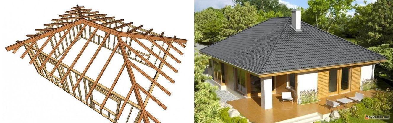 Строим крышу четырехскатную своими руками 6
