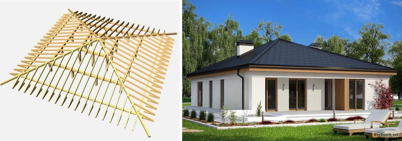 Крыша четырехскатная своими руками чертежи и фото 81
