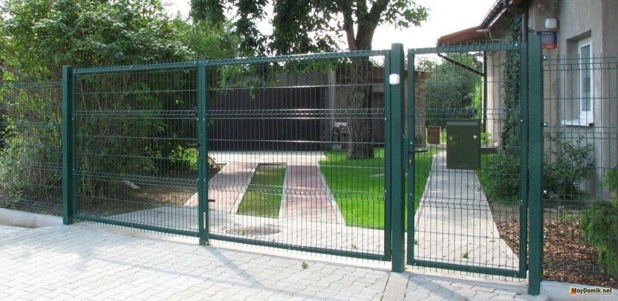 Как сделать ворота своими руками из рабицы