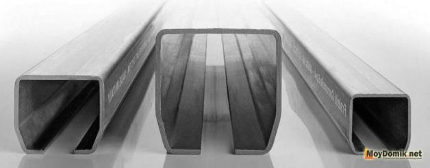 Сечение балки (рельсы) для откатных ворот