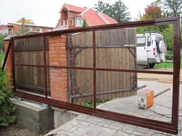 Изготовление каркаса для откатных ворот
