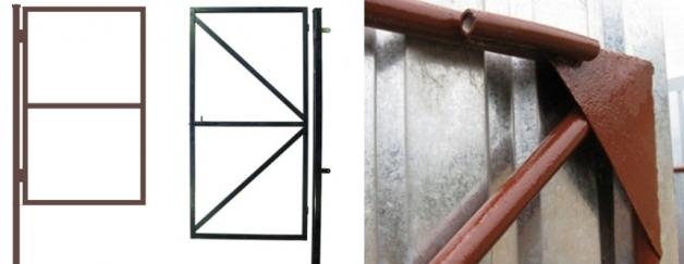 Силовая рама для откатных ворот
