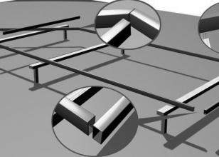 Под каким углом соединяется профиль рамы для откатных ворот