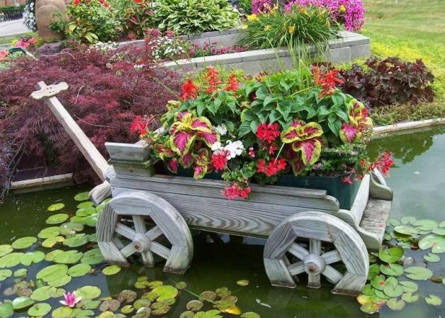 Формы цветников и клумб из многолетников