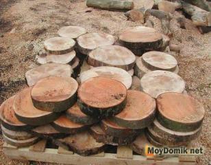Нарезка дисков из дерева