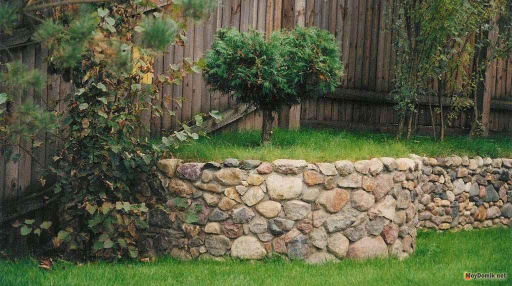 Клумба из камней своими руками - декоративное оформление клумбы камнями + фото