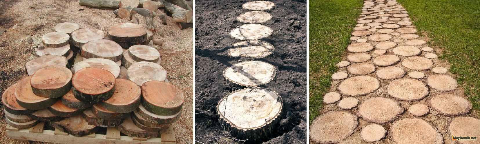 Дорожка из спилов дерева своими руками: инструкция по 86