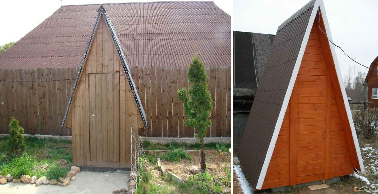 Домик для туалета на даче своими руками фото фото 442