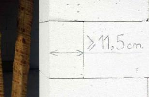Длина доборных газоблоков не менее 11,5 см