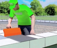 Перевязка газобетонной кладки на всю ширину блока