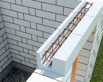 Армирование перемычки над окном из газобетона