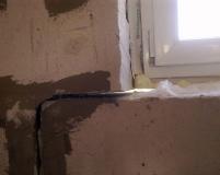 Последствия, когда не сделано армирование подоконного ряда из газобетонных блоков