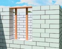 Технология устройства перемычки над окном из газобетона