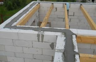 Устройство деревянных перекрытий в доме из газобетона