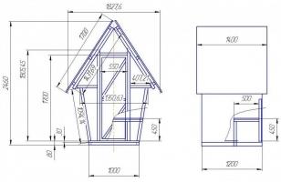 Туалет-домик для дачи - схема