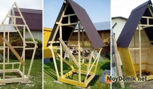 Строительство туалета-домика - изготовление каркаса