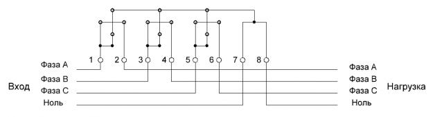 Схема подключения cчетчика прямого включения