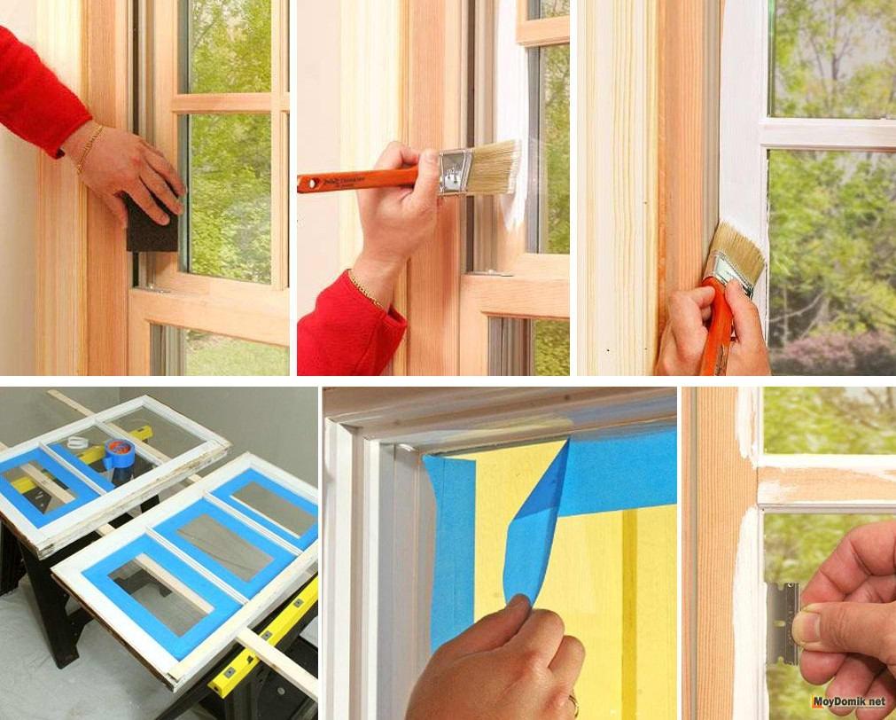Как сделать покраску окон