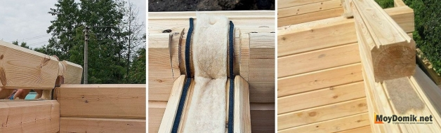 Межвенцовый утеплитель для бруса - джутовый, льняной (ленточный)