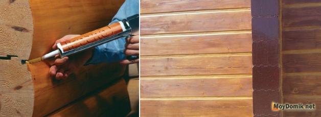 Герметик для заделки швов в стенах из профилированного бруса