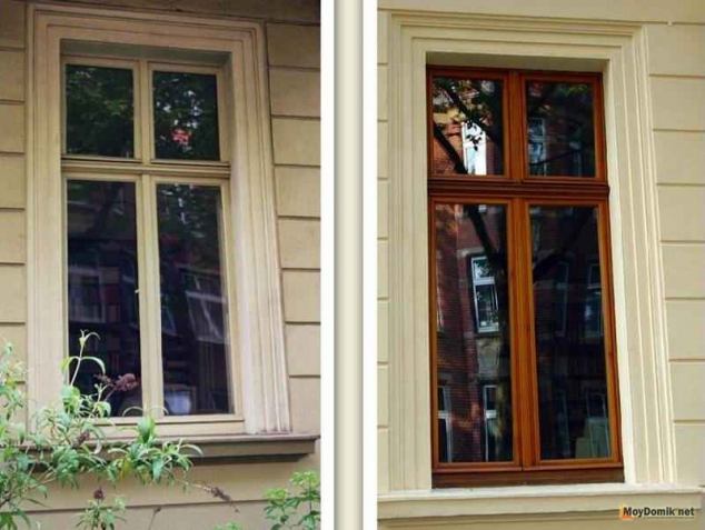 Ремонт деревянных окон - до и после