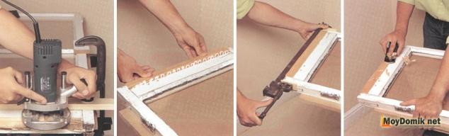 Ремонт деревянных окон - замена части рамы
