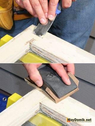 Шпаклевка и шлифовка деревянных окон