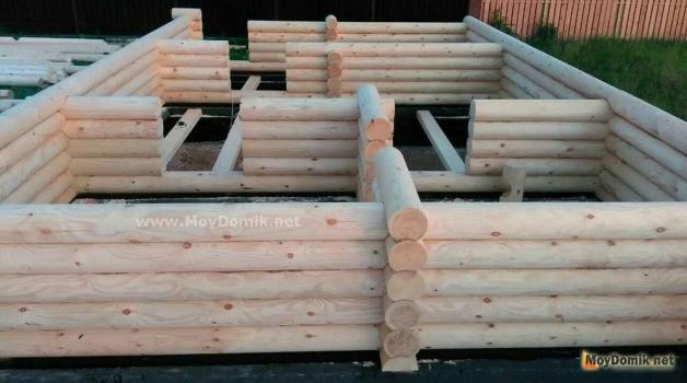 Строительство домов из оцилиндрованного бревна – пошаговая инструкция, этапы сборки