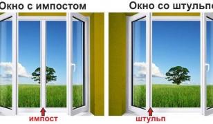 Что такое импост и штульп в окнах и чем отличается