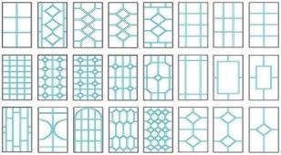 Разновидности шпросов (раскладки) на окна