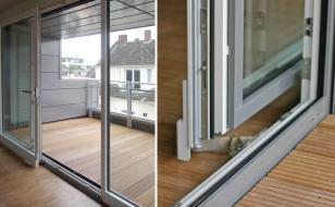 Сдвижные французские окна с выходом на балкон