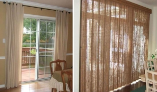 Декоративное оформление французских окон шторами