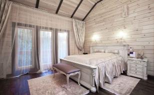 Интерьер дома из бруса в классическом стиле