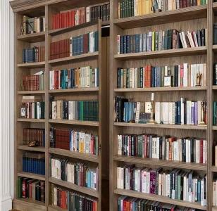 Фальш-двери в интерьере библиотеки