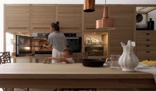 Дизайн кухни в брусовом доме