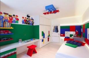 Интерьер детской комнаты в стиле Лего