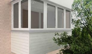 Остекление стандартного балкона (без выноса)