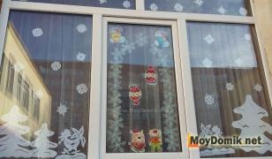Новогодняя сказка на окне - украшаем окна