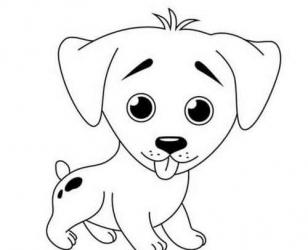 Трафарет - Милый щенок