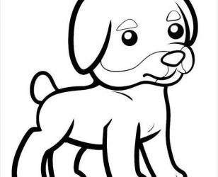Трафарет - Маленькая собачка
