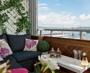Дизайн балкона с красивым видом