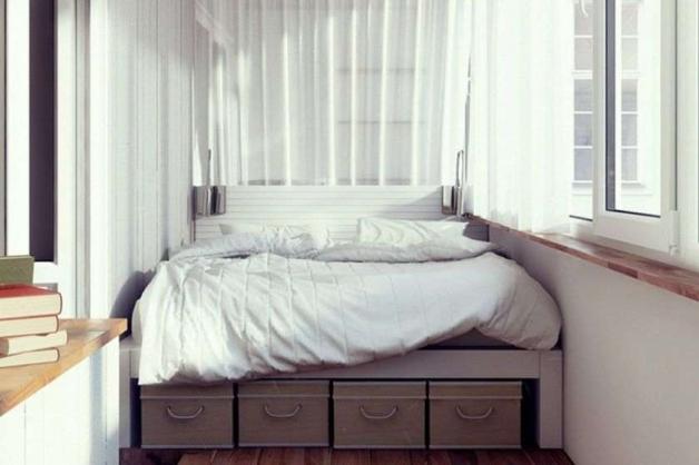 Дизайн балкона-спальни