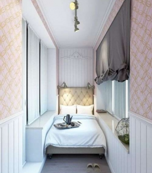 Дизайн спальни на балконе